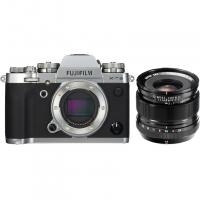 Цифровой фотоаппарат FujiFilm X-T3 Body Silver + XF14mmF2.8 R