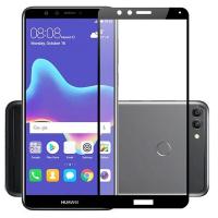 Защитное стекло skinBOX full screen для Huawei Y9 (2018), черный